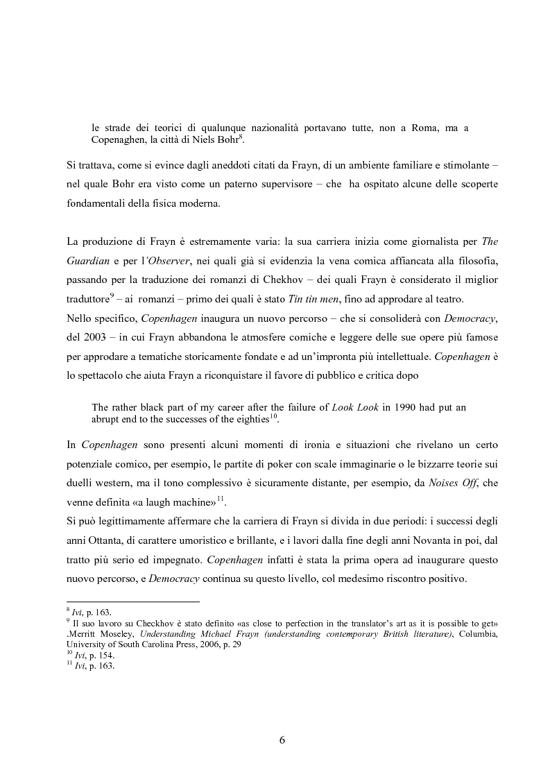 Anteprima della tesi: ''Copenhagen''di Michael Frayn: scienza, storiografia e linguaggi settoriali a teatro, Pagina 5