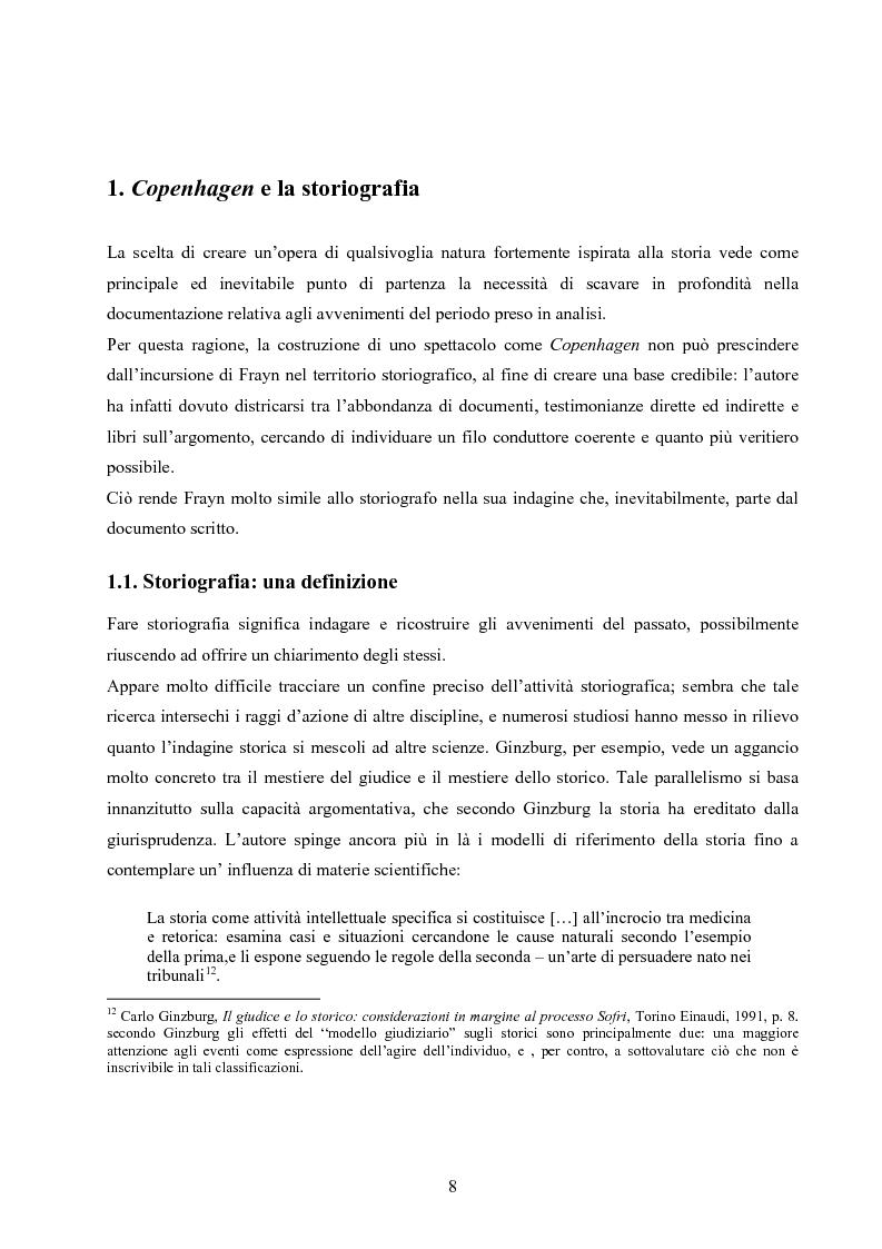 Anteprima della tesi: ''Copenhagen''di Michael Frayn: scienza, storiografia e linguaggi settoriali a teatro, Pagina 7