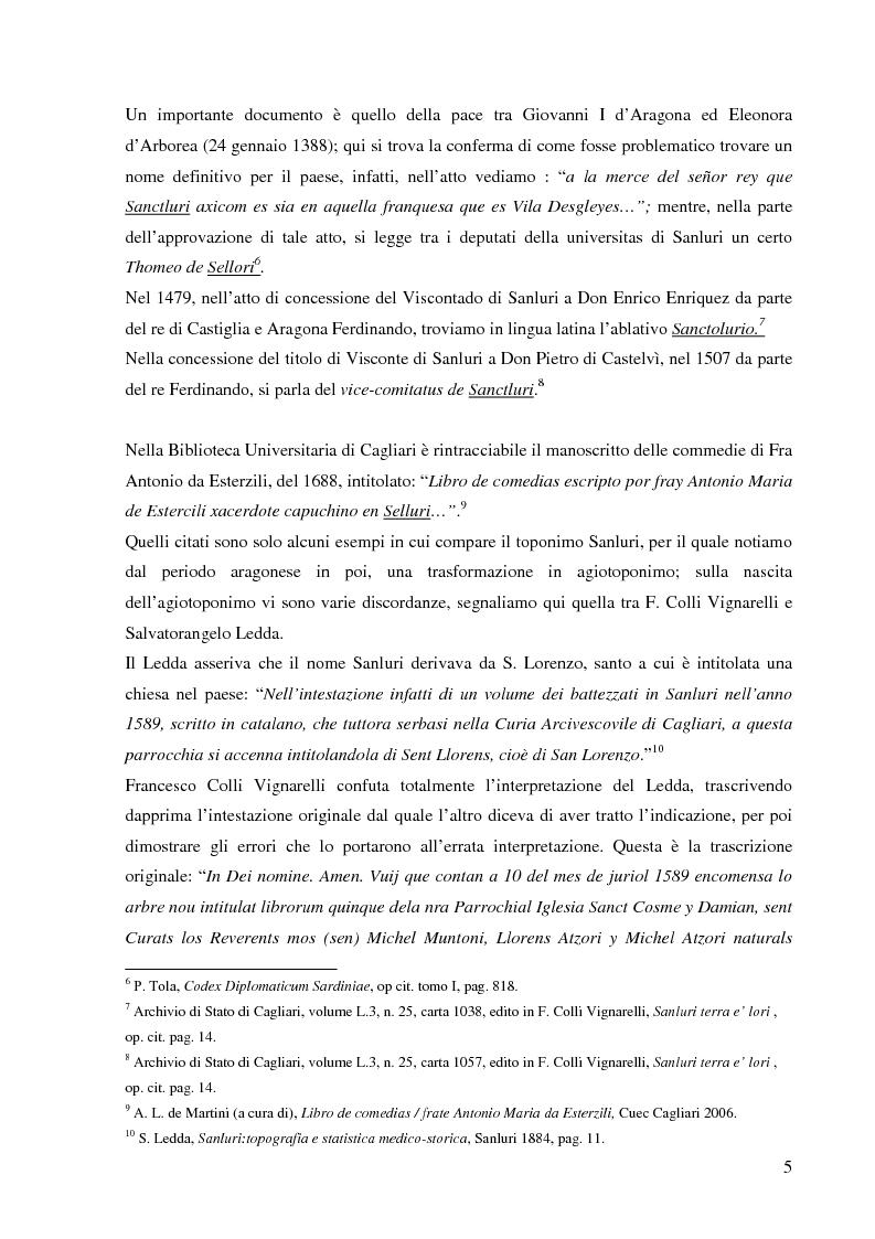 Anteprima della tesi: Dalla pace alla battaglia di Sanluri (1355-1409). Fonti documentarie e cronachistiche, Pagina 4