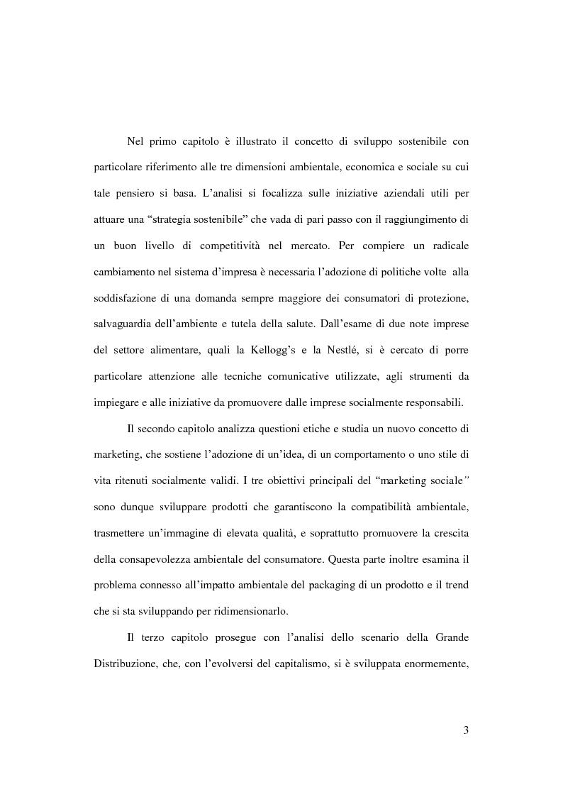 Anteprima della tesi: Sostenibilità e grande distribuzione organizzata: quali possibili prospettive?, Pagina 4