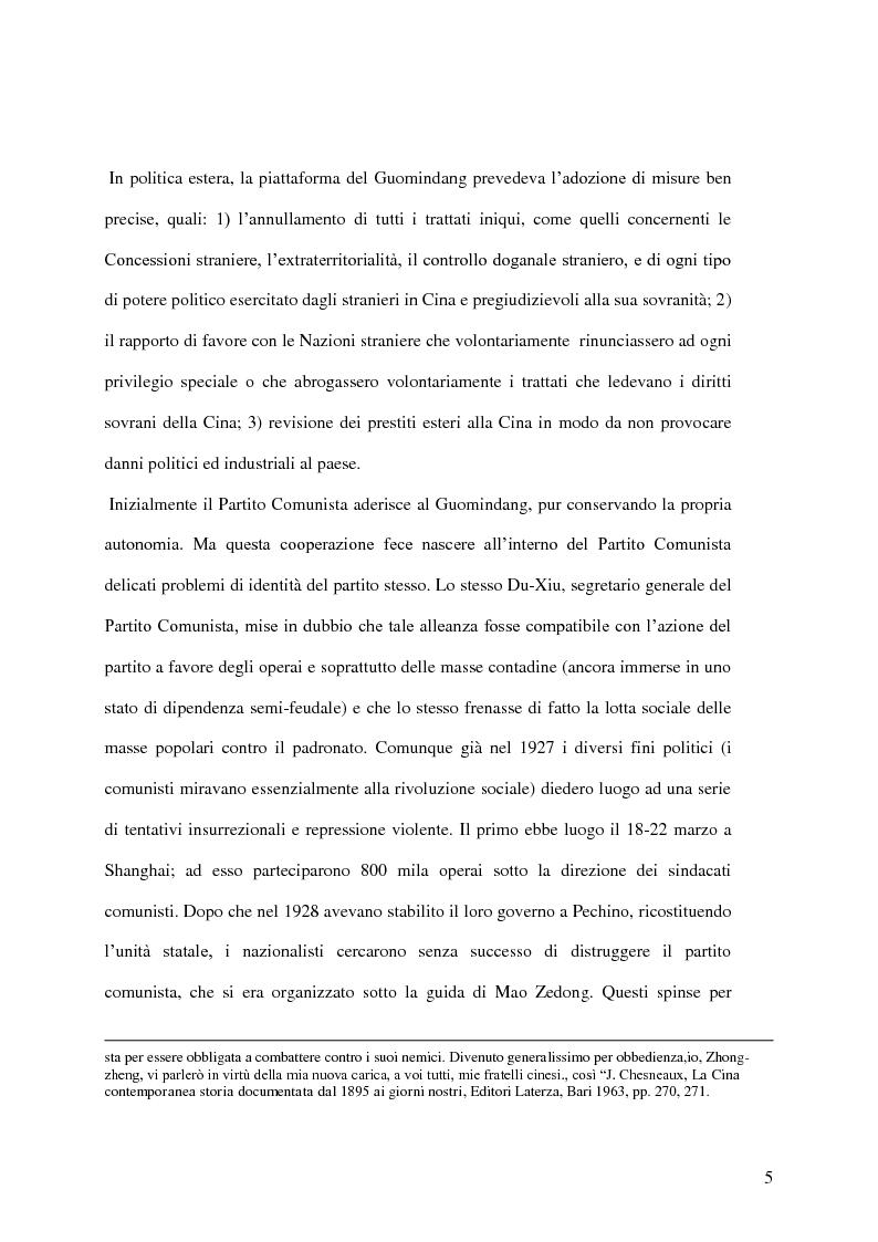 Anteprima della tesi: Taiwan: indipendenza o unificazione con la Cina. Una questione ancora irrisolta., Pagina 6