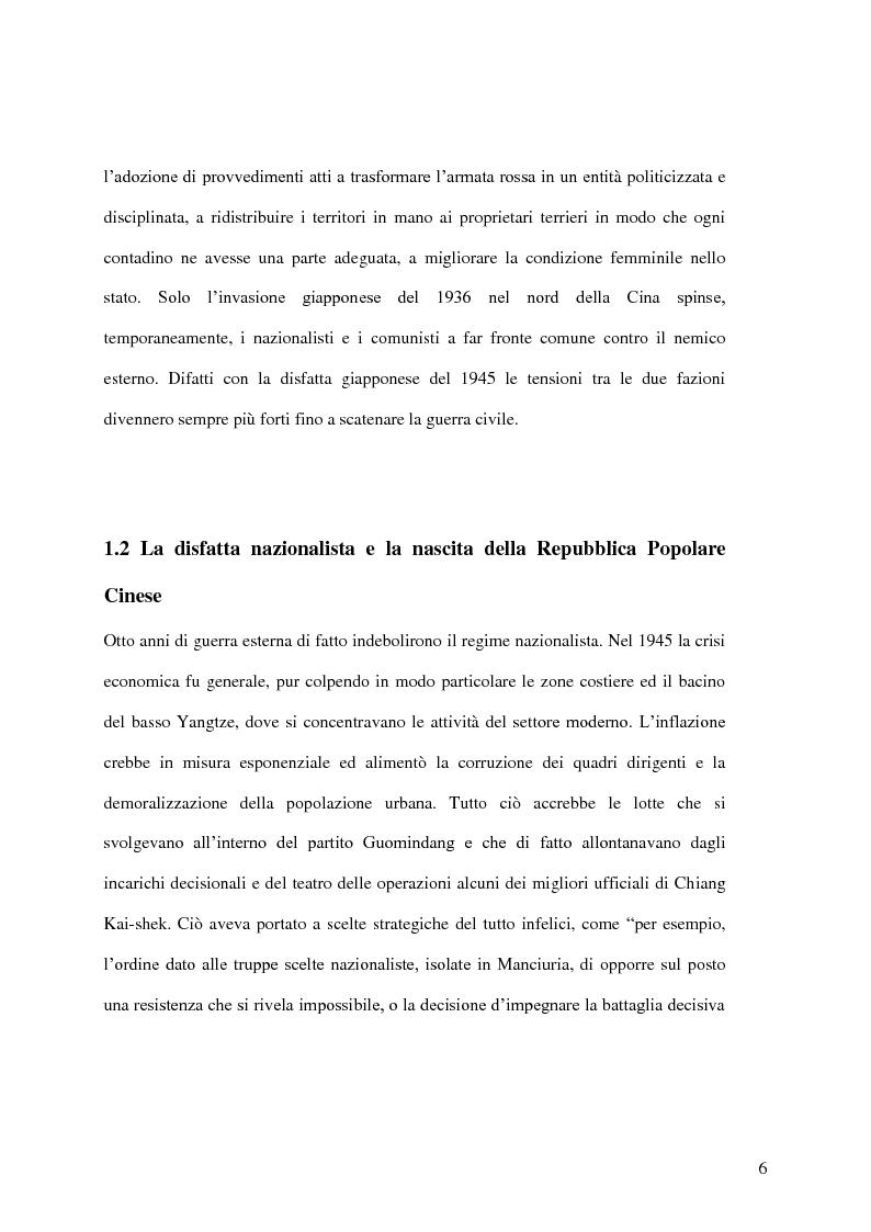 Anteprima della tesi: Taiwan: indipendenza o unificazione con la Cina. Una questione ancora irrisolta., Pagina 7