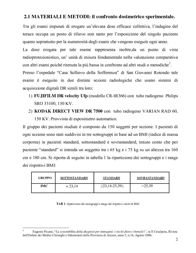 Anteprima della tesi: Sistemi digitali: indagine sperimentale sulle variazioni dosimetriche, Pagina 3