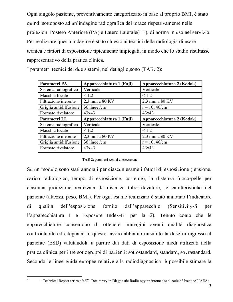 Anteprima della tesi: Sistemi digitali: indagine sperimentale sulle variazioni dosimetriche, Pagina 4