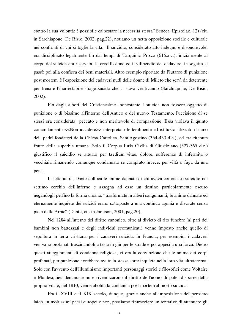 Anteprima della tesi: Il suicidio in carcere: analisi di alcuni istituti penitenziari sardi, Pagina 10