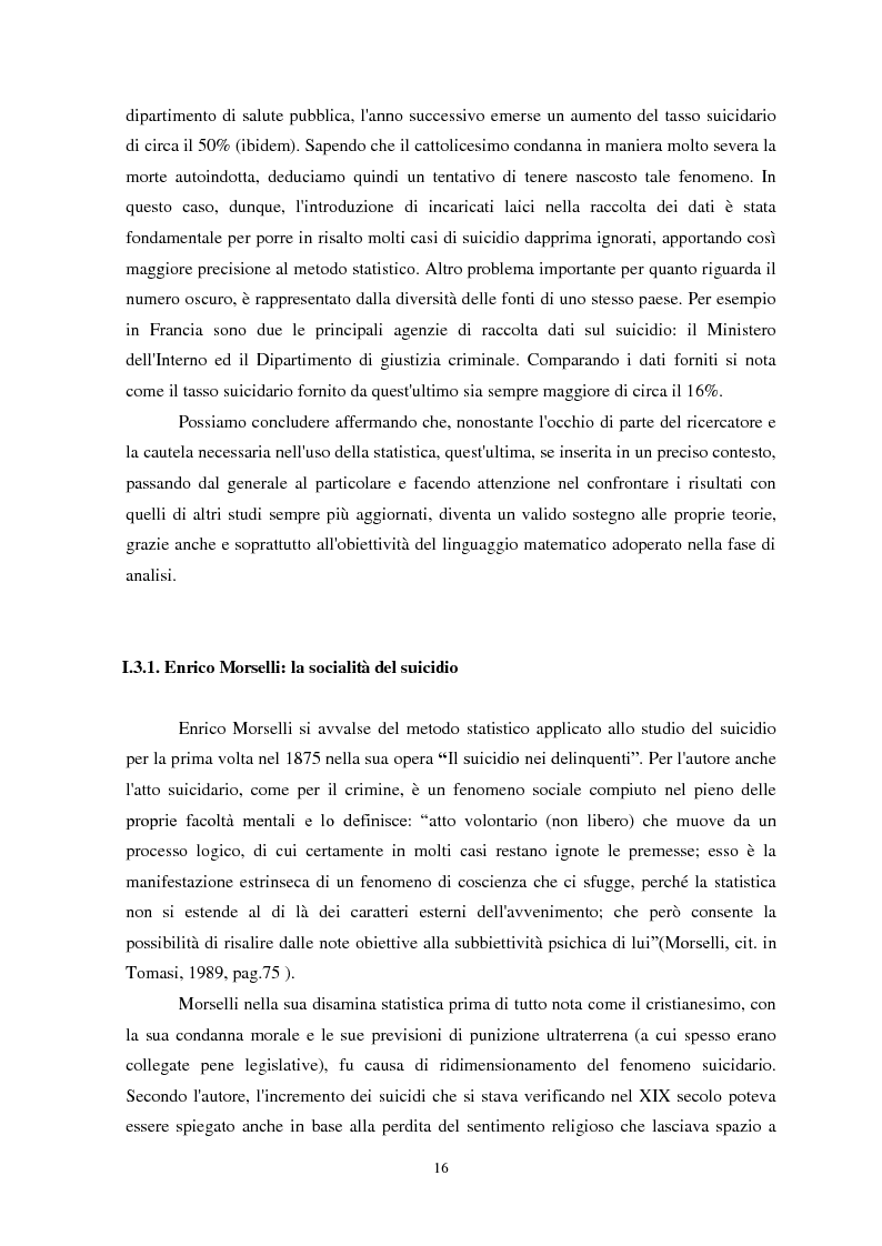 Anteprima della tesi: Il suicidio in carcere: analisi di alcuni istituti penitenziari sardi, Pagina 13