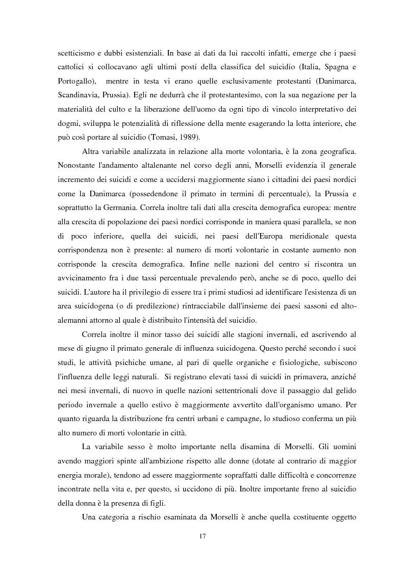 Anteprima della tesi: Il suicidio in carcere: analisi di alcuni istituti penitenziari sardi, Pagina 14
