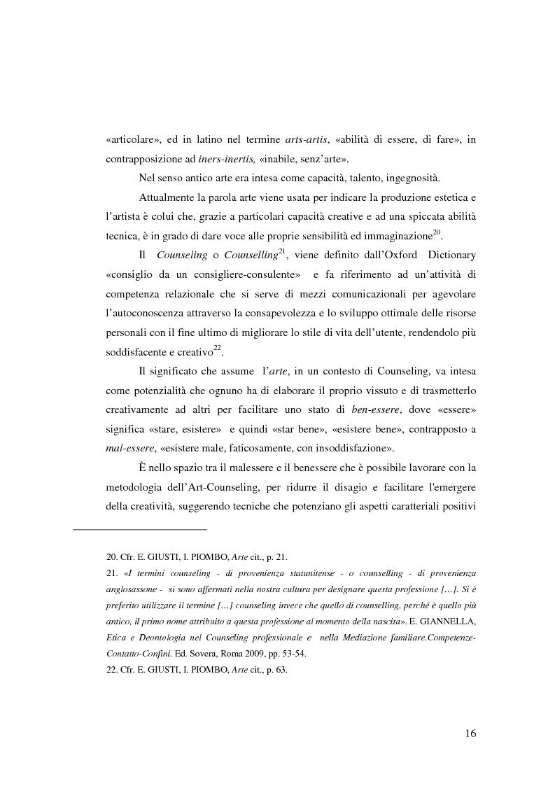 Anteprima della tesi: L'Arte e L'Espressività nel programma educativo e terapeutico di una comunità per minori e adolescenti, Pagina 10