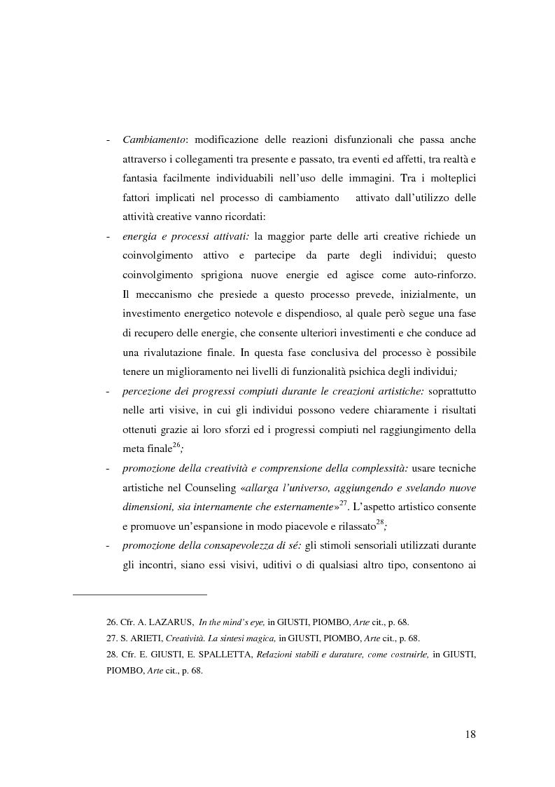 Anteprima della tesi: L'Arte e L'Espressività nel programma educativo e terapeutico di una comunità per minori e adolescenti, Pagina 12