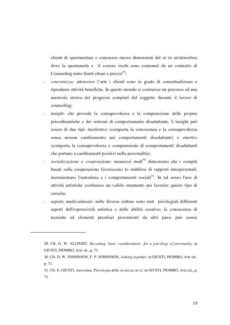Anteprima della tesi: L'Arte e L'Espressività nel programma educativo e terapeutico di una comunità per minori e adolescenti, Pagina 13