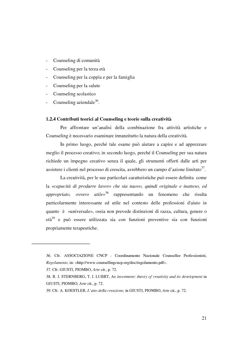 Anteprima della tesi: L'Arte e L'Espressività nel programma educativo e terapeutico di una comunità per minori e adolescenti, Pagina 15