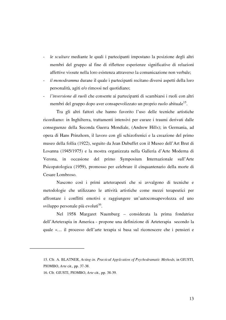 Anteprima della tesi: L'Arte e L'Espressività nel programma educativo e terapeutico di una comunità per minori e adolescenti, Pagina 7