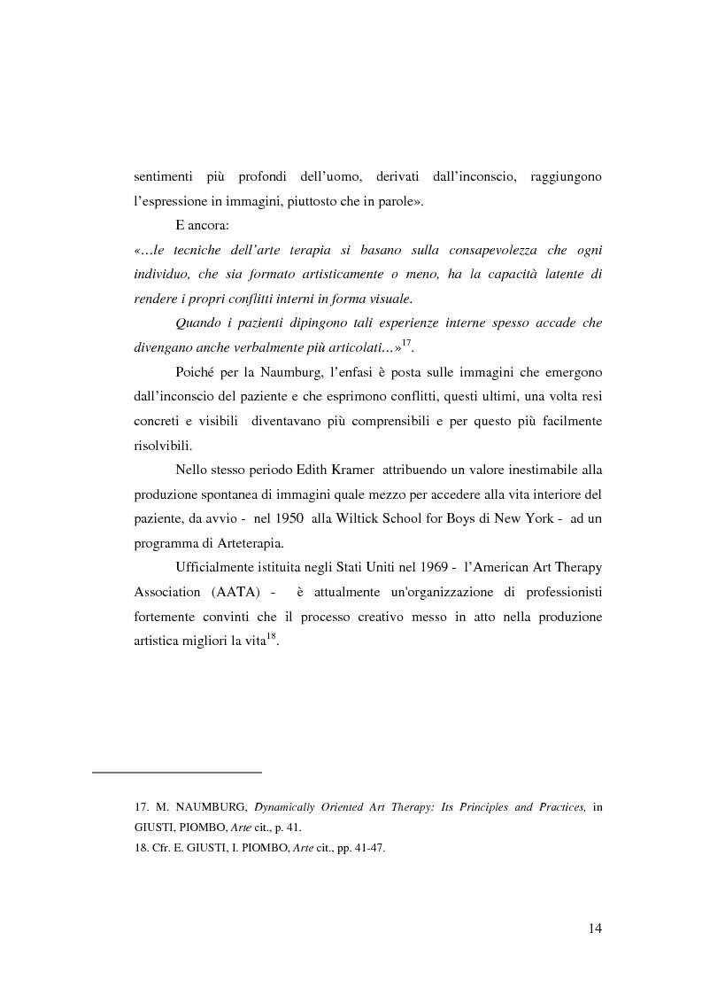 Anteprima della tesi: L'Arte e L'Espressività nel programma educativo e terapeutico di una comunità per minori e adolescenti, Pagina 8