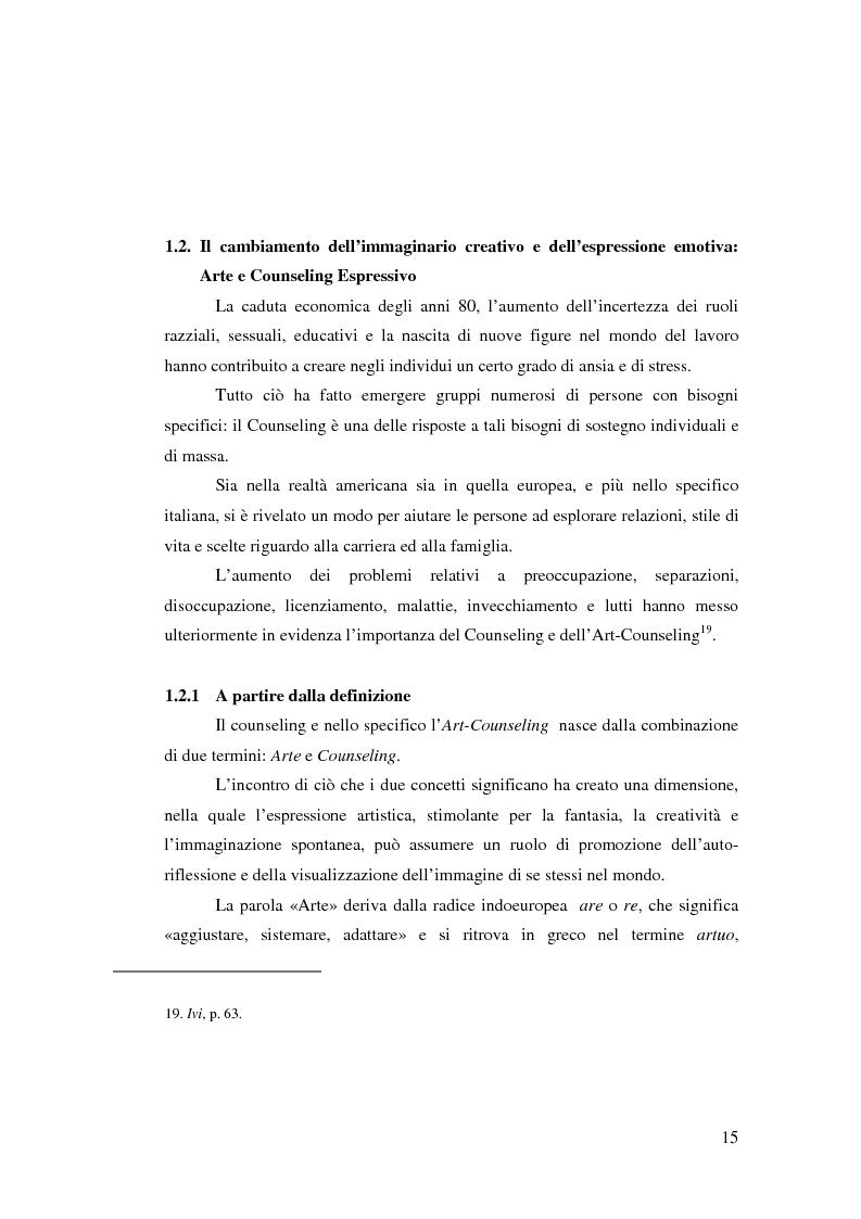 Anteprima della tesi: L'Arte e L'Espressività nel programma educativo e terapeutico di una comunità per minori e adolescenti, Pagina 9