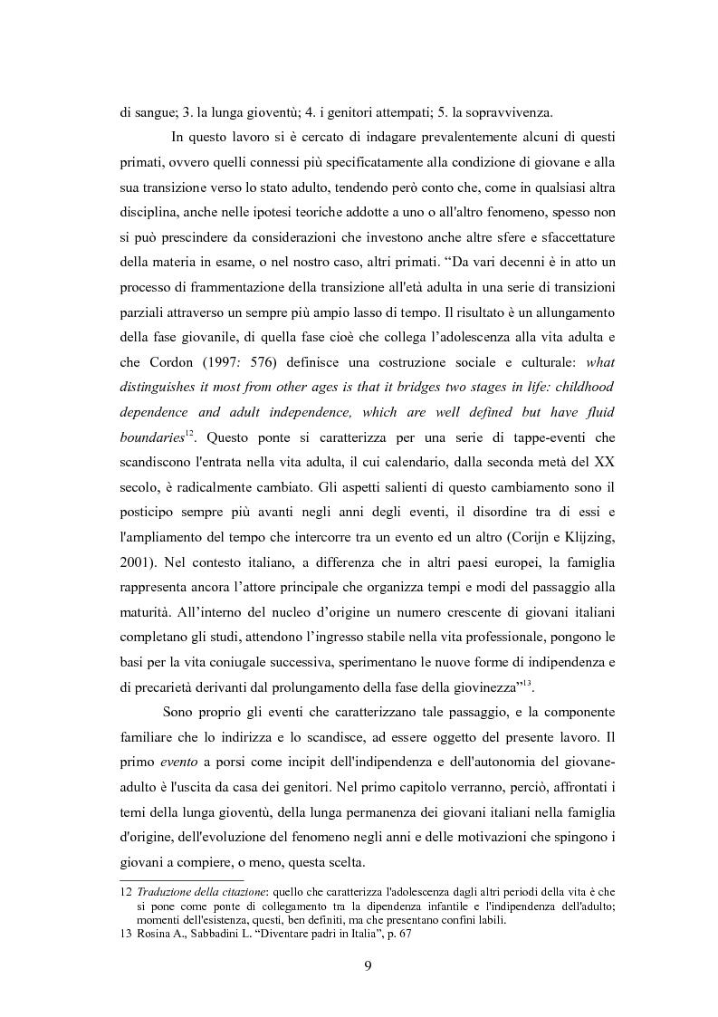 Anteprima della tesi: Il passaggio da gioventù ad età adulta nell'Italia dei primati demografici, Pagina 9