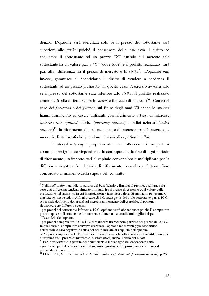 Anteprima della tesi: Gli strumenti finanziari derivati: profili strutturali e funzionali., Pagina 13