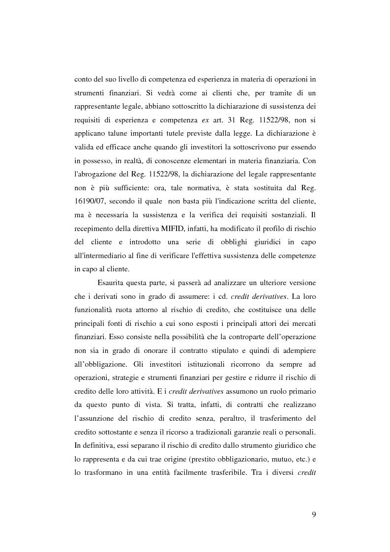 Anteprima della tesi: Gli strumenti finanziari derivati: profili strutturali e funzionali., Pagina 4