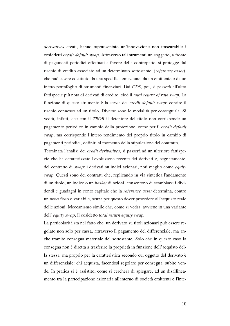 Anteprima della tesi: Gli strumenti finanziari derivati: profili strutturali e funzionali., Pagina 5