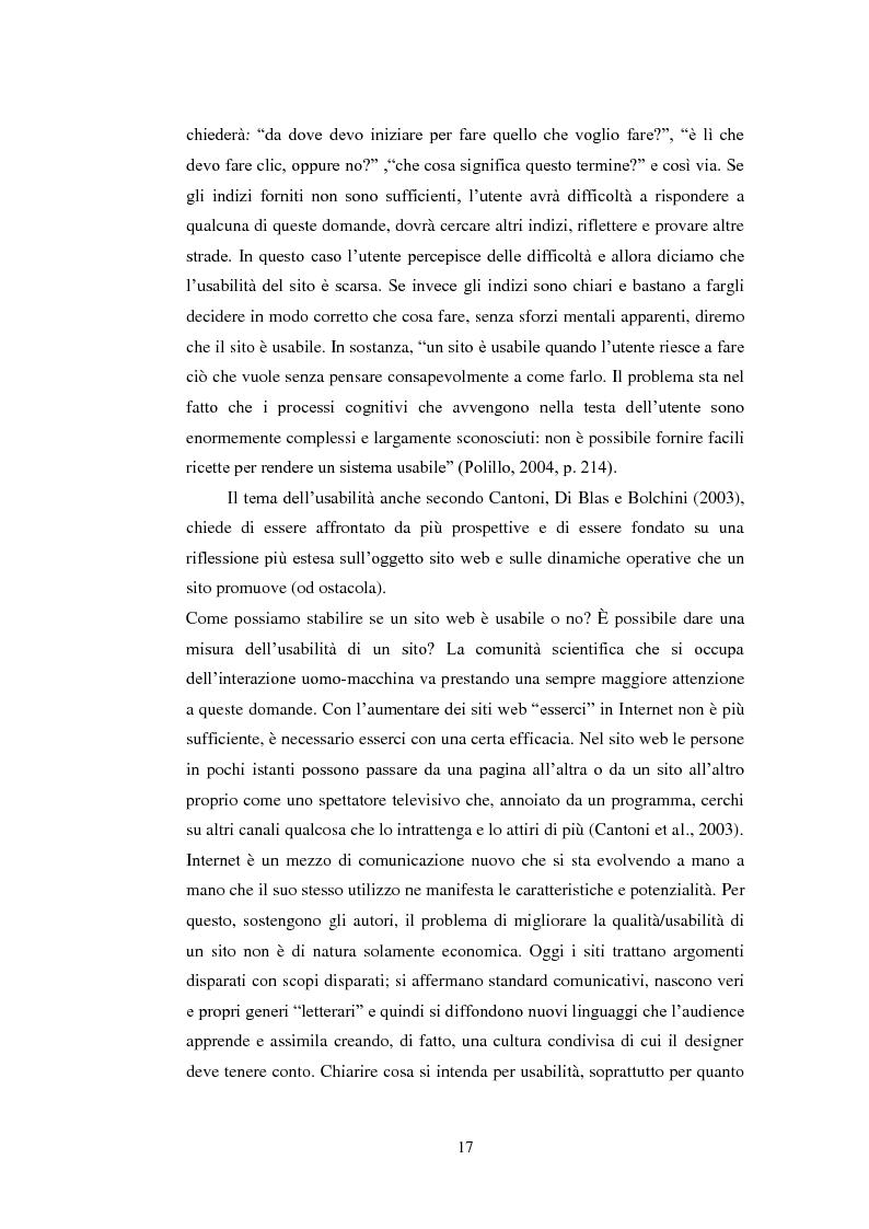 Estratto dalla tesi: Bibliotechediroma.it: usabilità percepita dagli utenti e dagli operatori