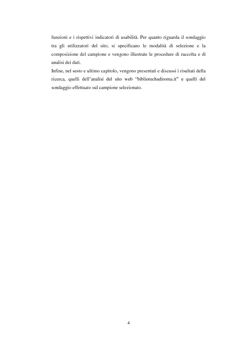 Anteprima della tesi: Bibliotechediroma.it: usabilità percepita dagli utenti e dagli operatori, Pagina 4