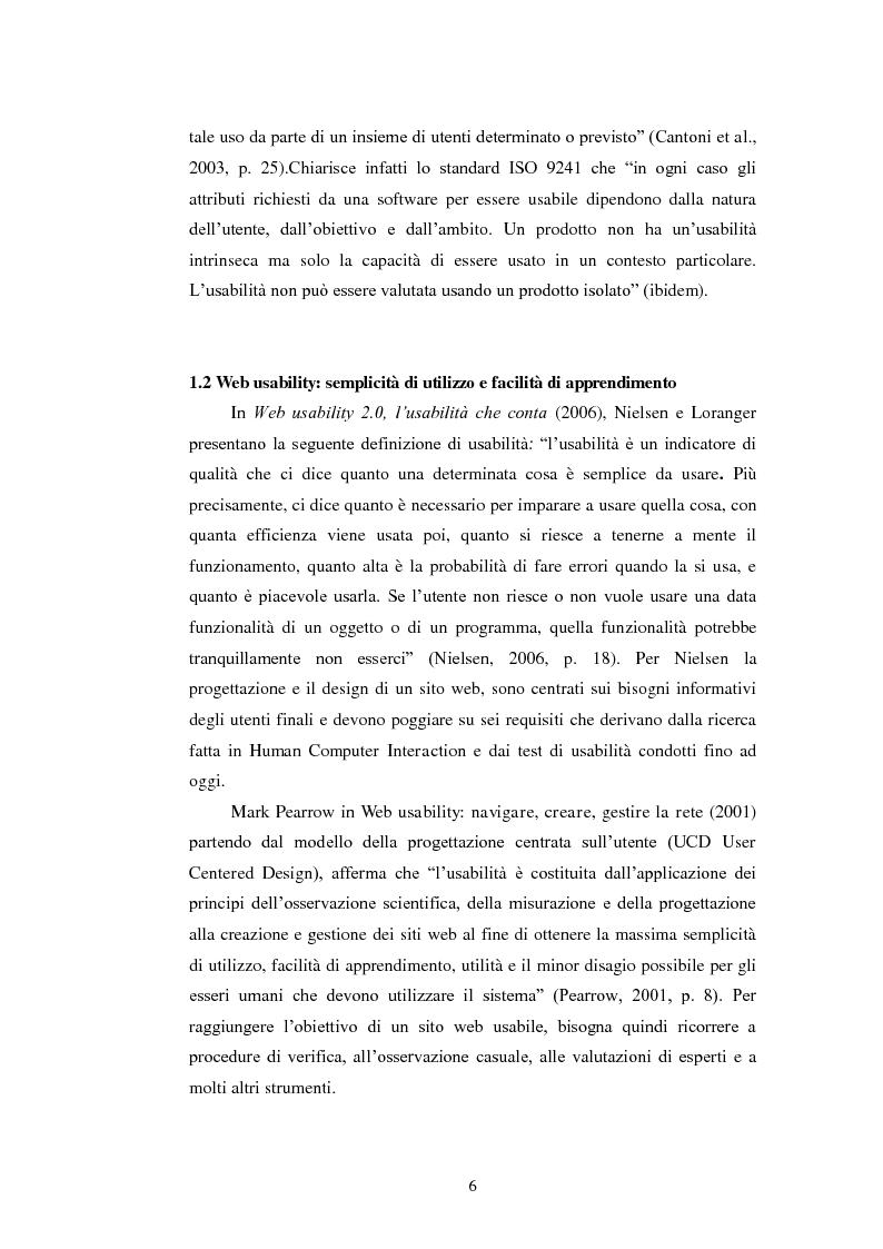 Anteprima della tesi: Bibliotechediroma.it: usabilità percepita dagli utenti e dagli operatori, Pagina 6