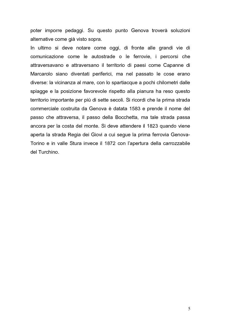 Anteprima della tesi: Le vie Marenche Vie di passaggio per uomini e merci fra Genova e Oltregiogo, Pagina 5