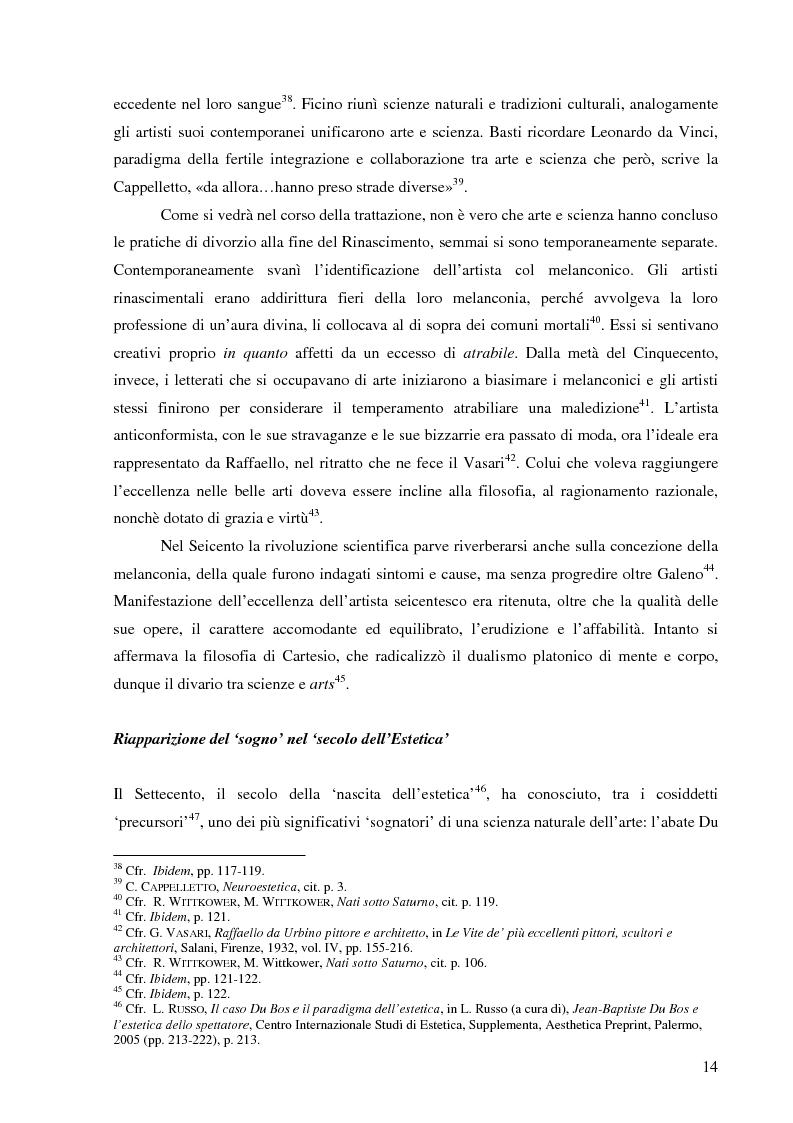 Anteprima della tesi: Il corpo dell'arte. Aspetti e problemi di Neuroestetica, Pagina 12