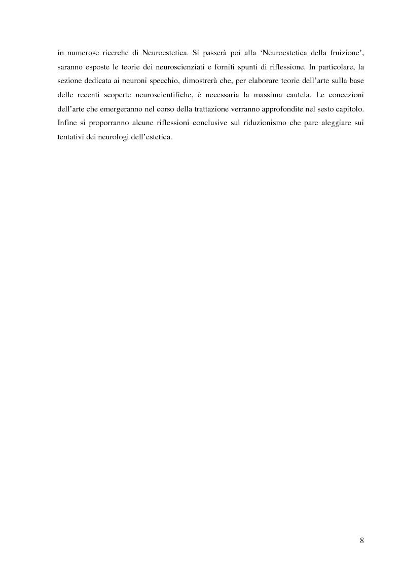 Anteprima della tesi: Il corpo dell'arte. Aspetti e problemi di Neuroestetica, Pagina 6