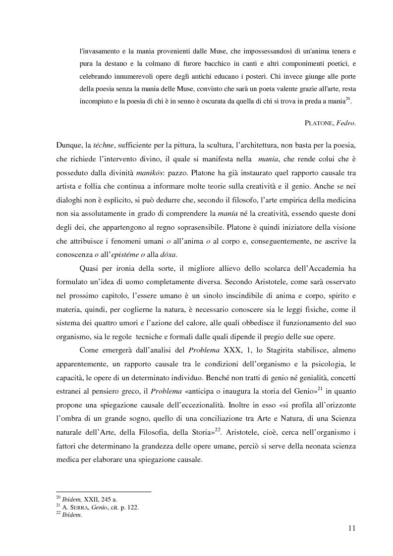 Anteprima della tesi: Il corpo dell'arte. Aspetti e problemi di Neuroestetica, Pagina 9