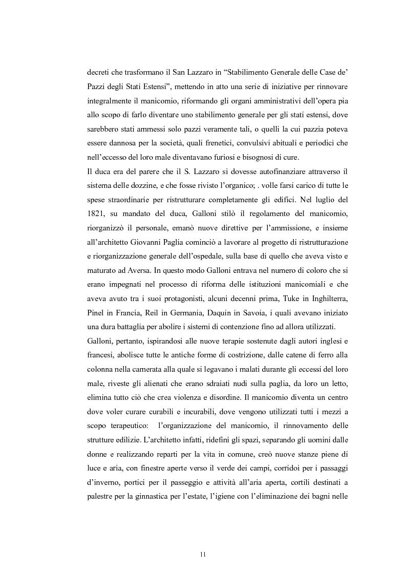 Anteprima della tesi: Per la storia della psichiatria: istituzionalizzazione e dibattito scientifico, Pagina 10