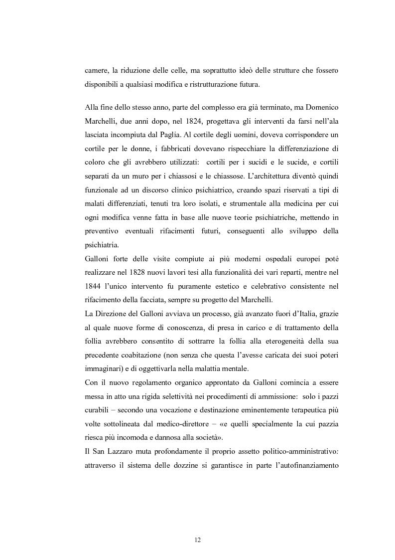 Anteprima della tesi: Per la storia della psichiatria: istituzionalizzazione e dibattito scientifico, Pagina 11