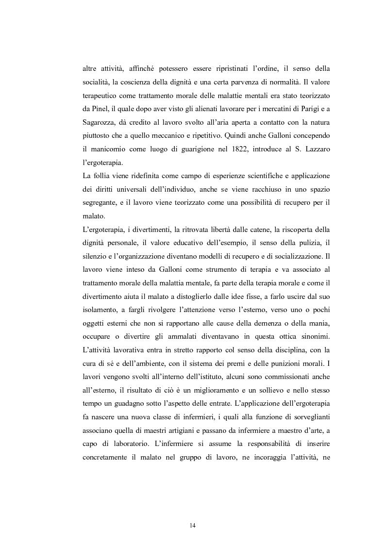 Anteprima della tesi: Per la storia della psichiatria: istituzionalizzazione e dibattito scientifico, Pagina 13