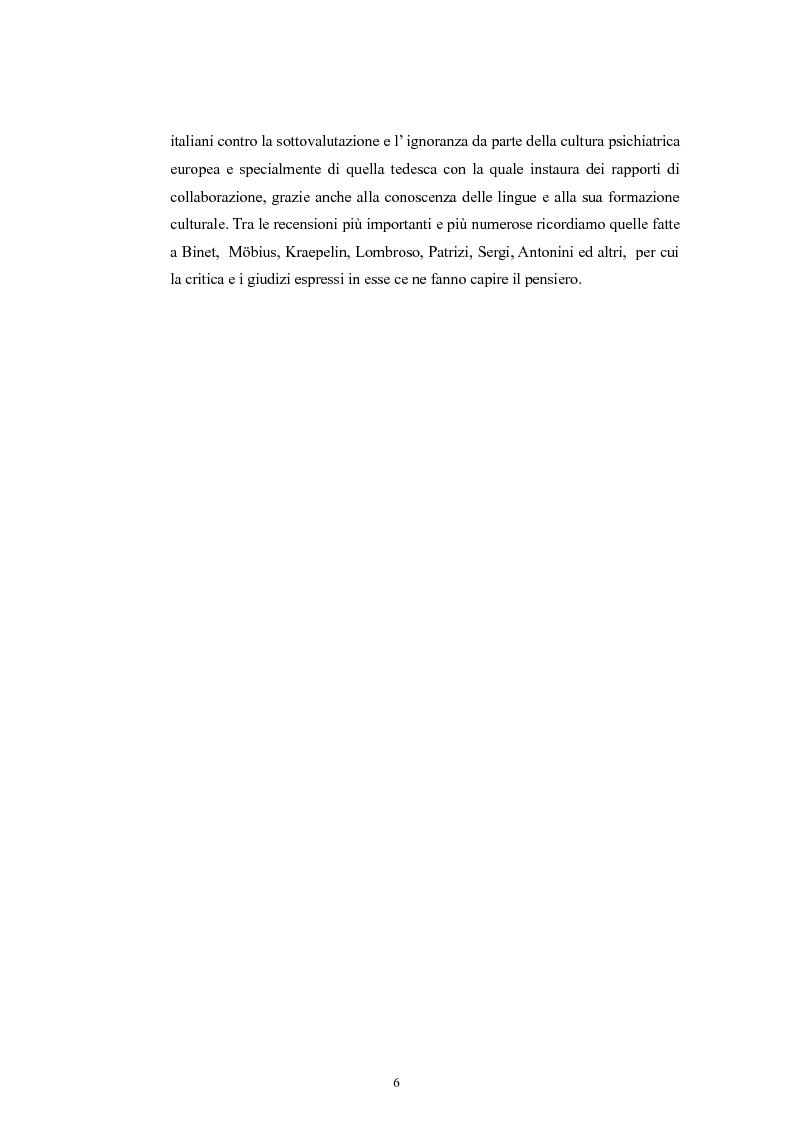 Anteprima della tesi: Per la storia della psichiatria: istituzionalizzazione e dibattito scientifico, Pagina 5