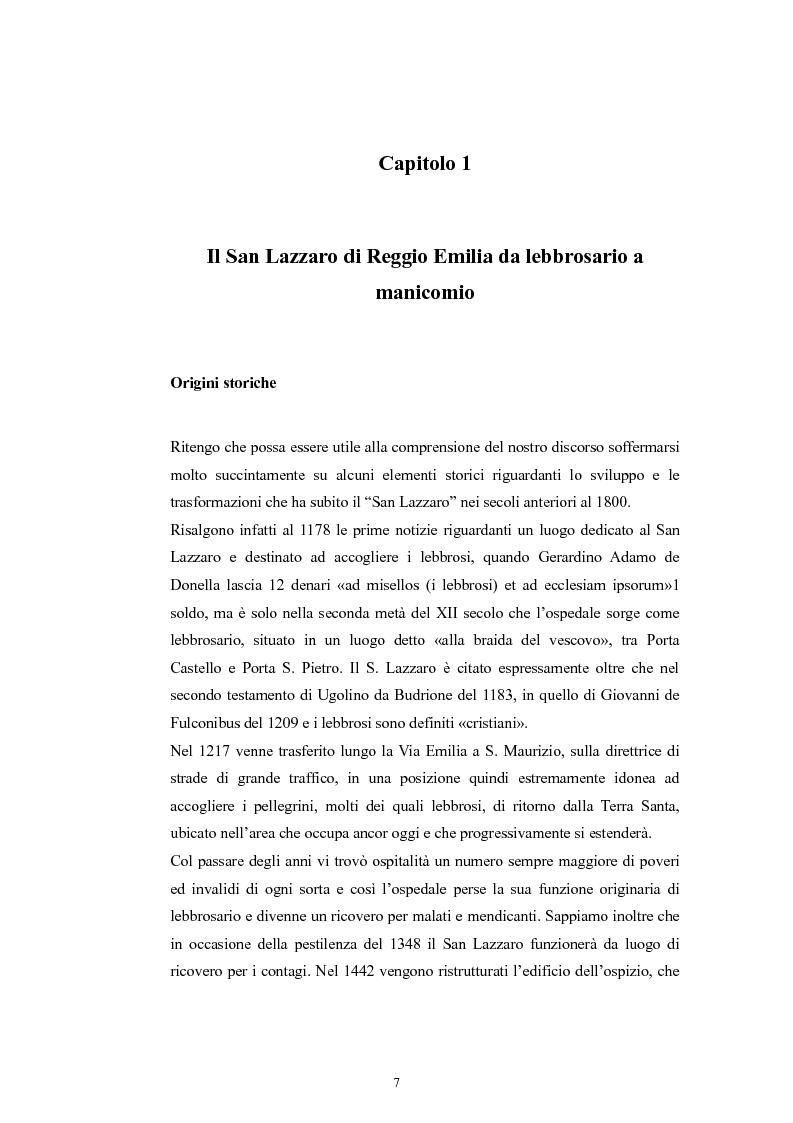Anteprima della tesi: Per la storia della psichiatria: istituzionalizzazione e dibattito scientifico, Pagina 6