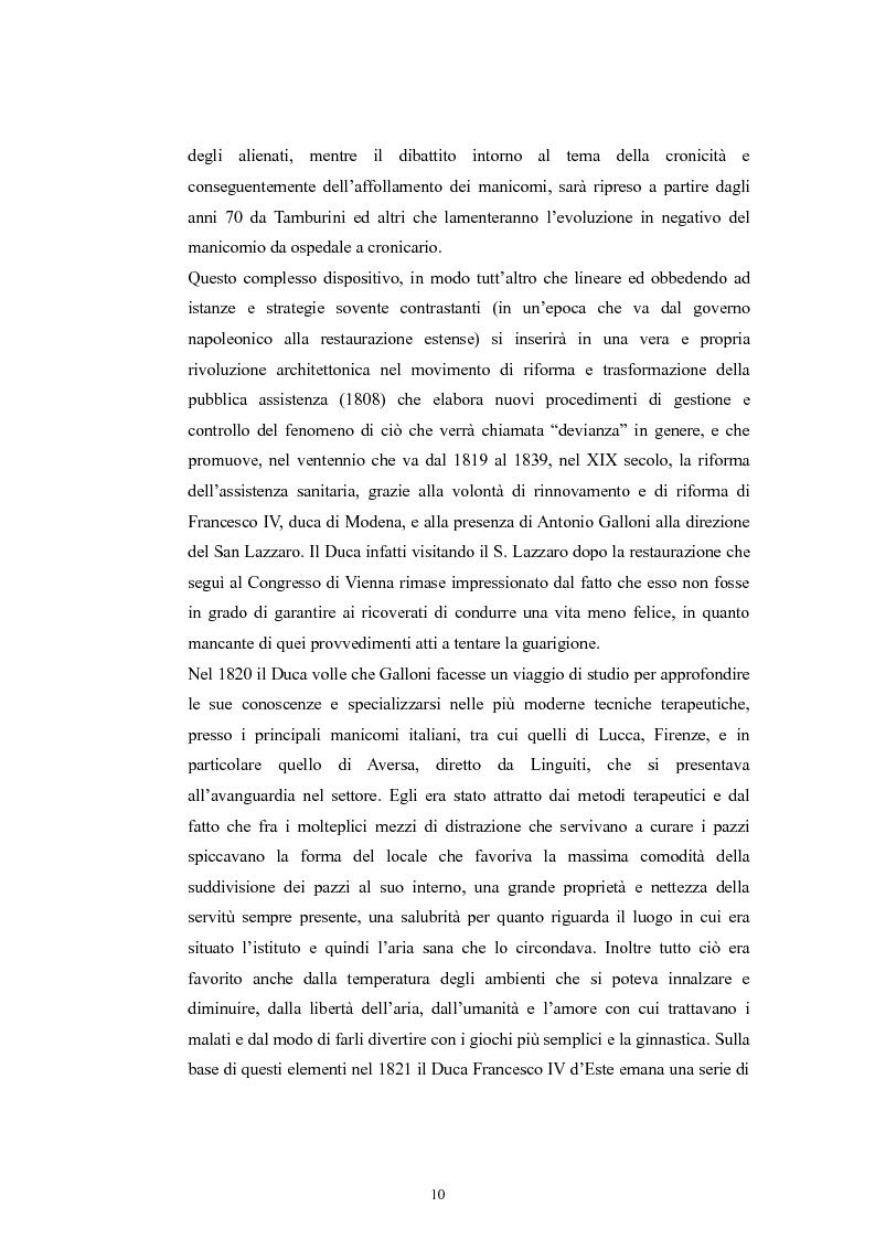Anteprima della tesi: Per la storia della psichiatria: istituzionalizzazione e dibattito scientifico, Pagina 9