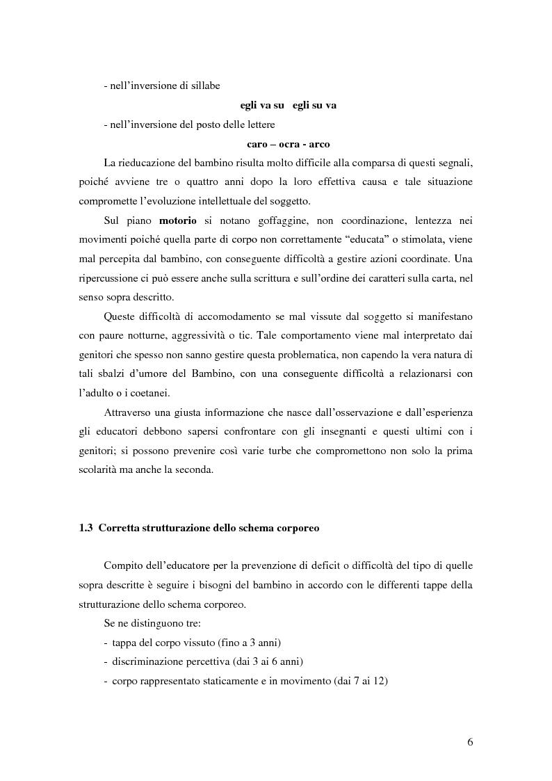Anteprima della tesi: Formulare un progetto per operatori di psicomotricità sulla base dell'esperienza di tirocinio, Pagina 4
