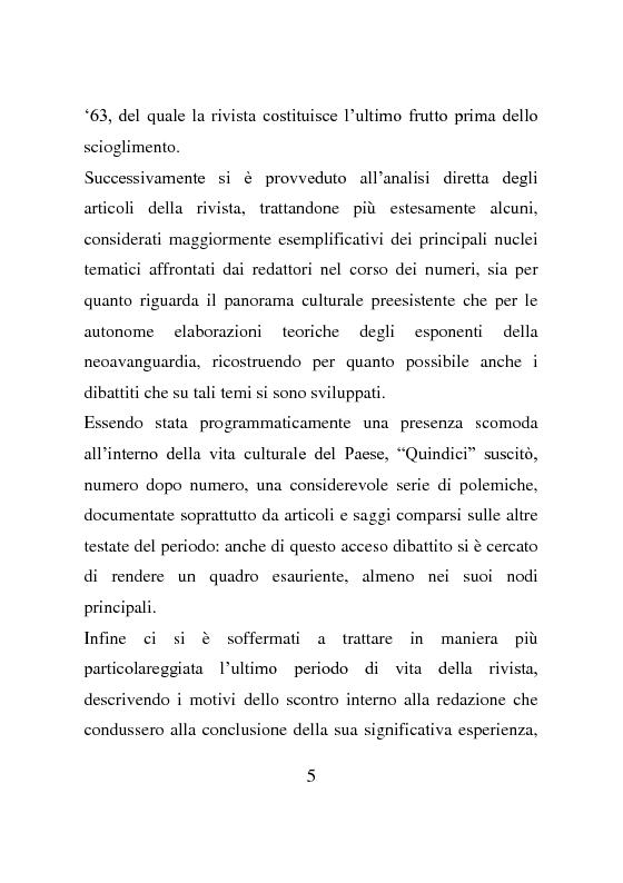 Anteprima della tesi: La rivista Quindici, storia e progetto letterario, Pagina 4
