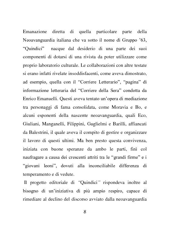 Anteprima della tesi: La rivista Quindici, storia e progetto letterario, Pagina 7