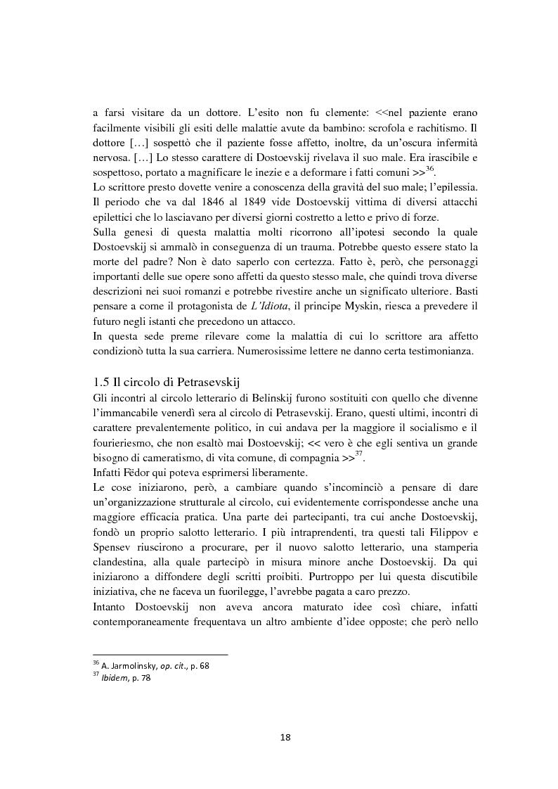Anteprima della tesi: F. Dostoevskij. Antropologia e polifonia, Pagina 15