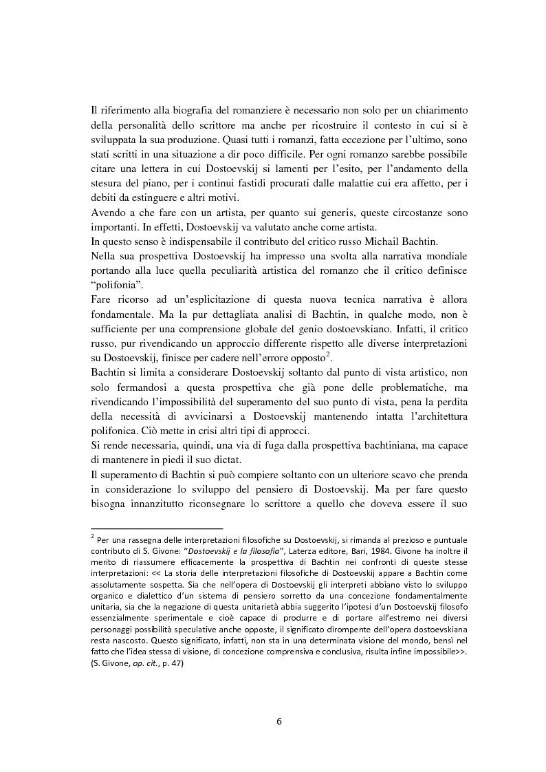 Anteprima della tesi: F. Dostoevskij. Antropologia e polifonia, Pagina 3