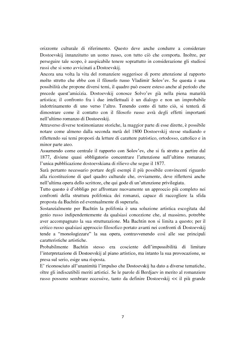 Anteprima della tesi: F. Dostoevskij. Antropologia e polifonia, Pagina 4