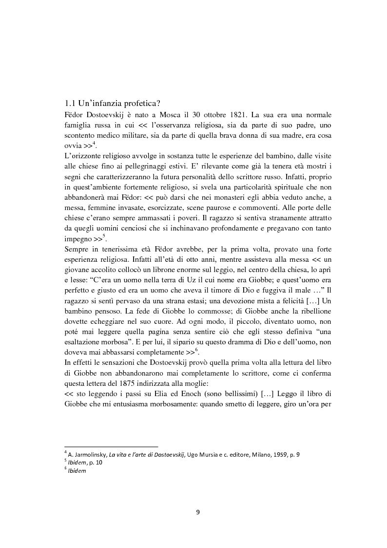 Anteprima della tesi: F. Dostoevskij. Antropologia e polifonia, Pagina 6