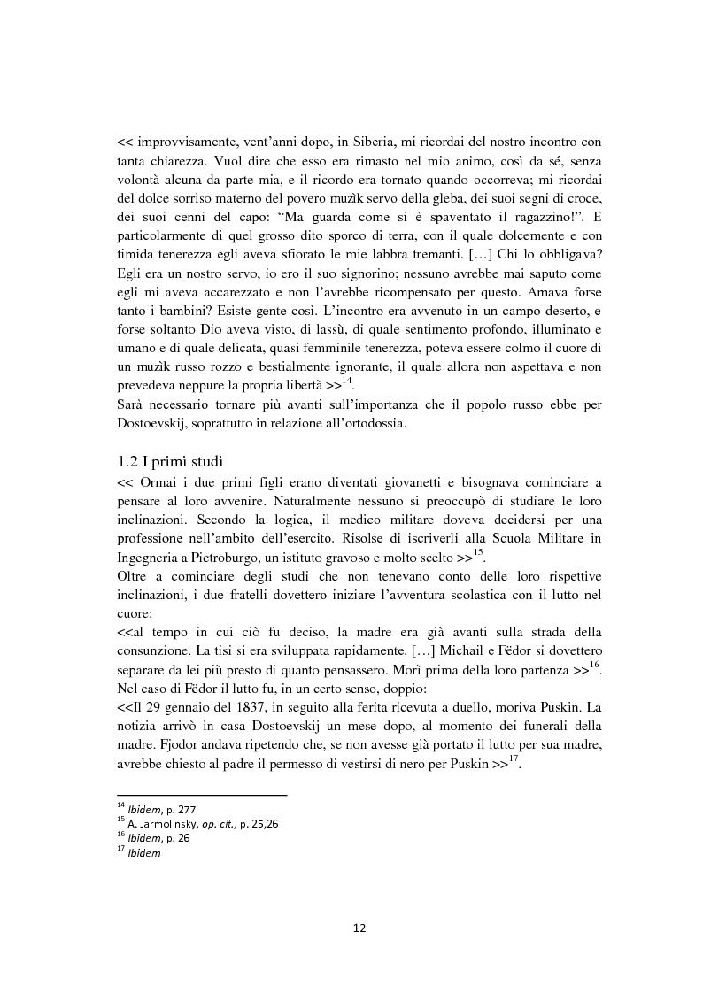 Anteprima della tesi: F. Dostoevskij. Antropologia e polifonia, Pagina 9