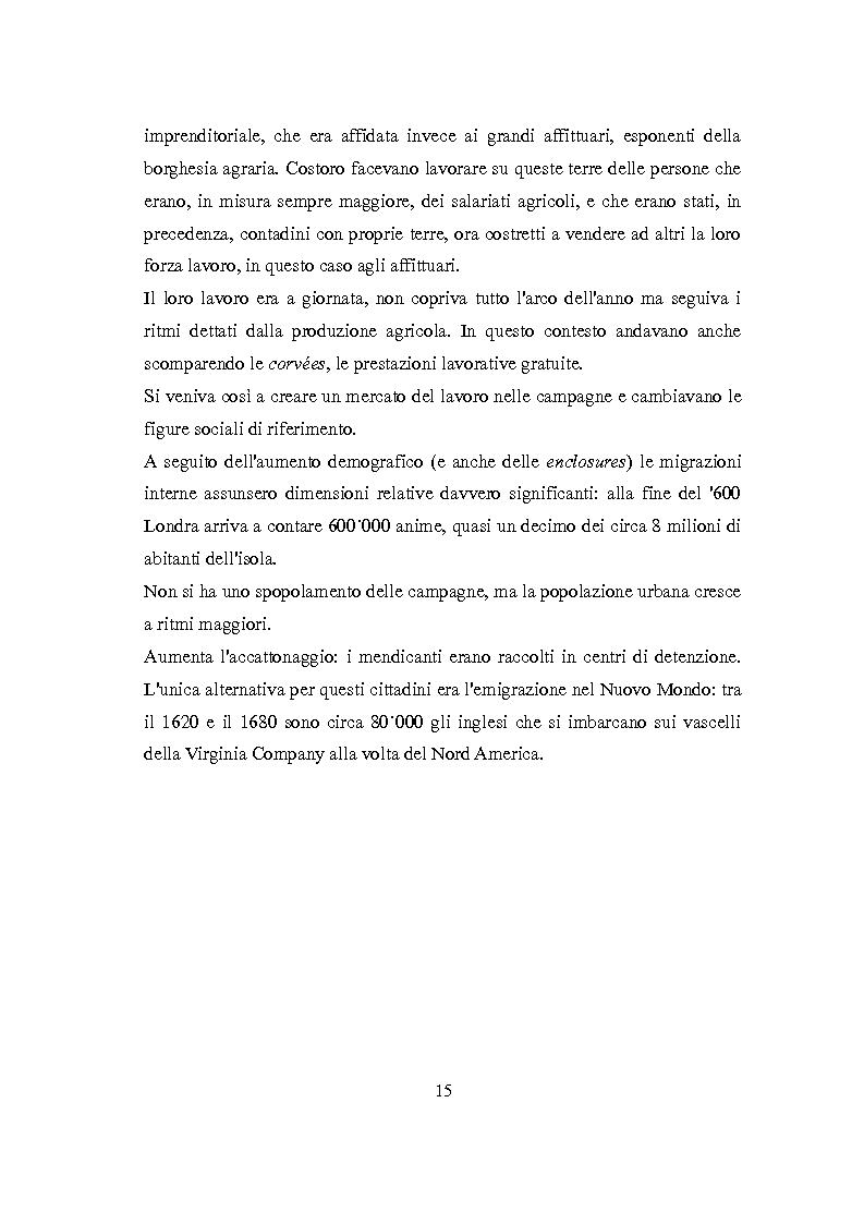 Anteprima della tesi: La Rivoluzione Industriale inglese. Variabili economiche e dibattito storiografico, Pagina 11