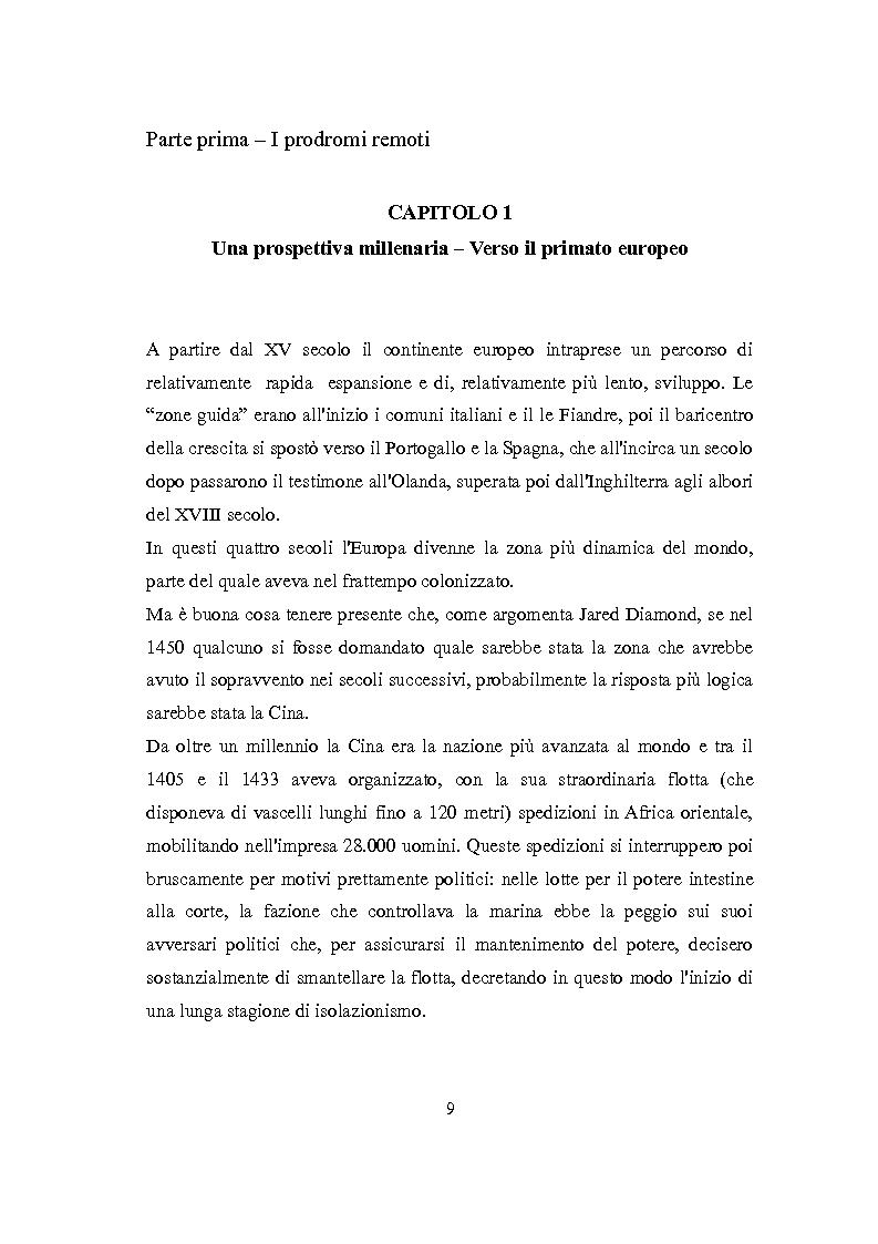 Anteprima della tesi: La Rivoluzione Industriale inglese. Variabili economiche e dibattito storiografico, Pagina 5