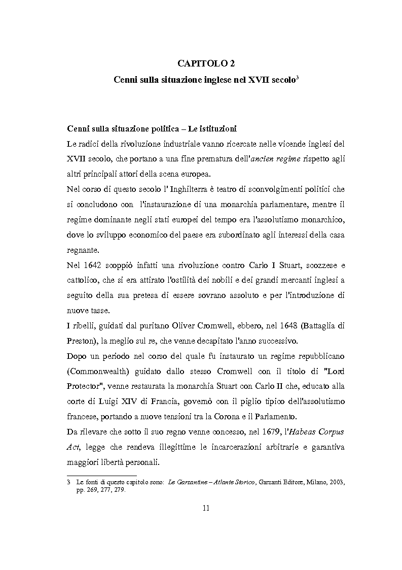 Anteprima della tesi: La Rivoluzione Industriale inglese. Variabili economiche e dibattito storiografico, Pagina 7
