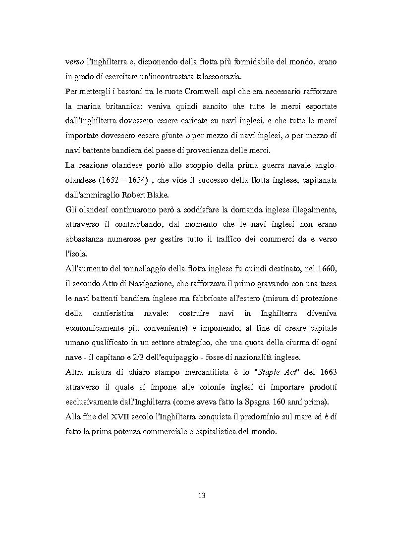 Anteprima della tesi: La Rivoluzione Industriale inglese. Variabili economiche e dibattito storiografico, Pagina 9