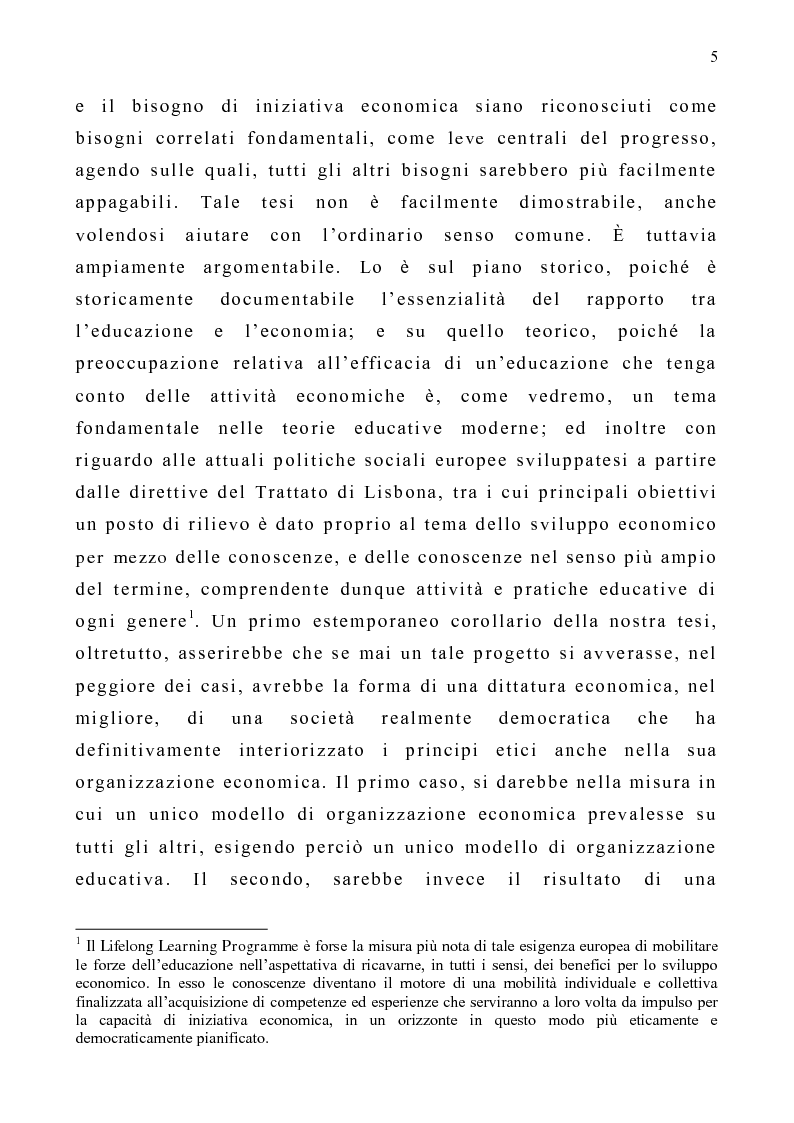 Anteprima della tesi: Educazione ed economia. Proposte per il progresso sociale, Pagina 3