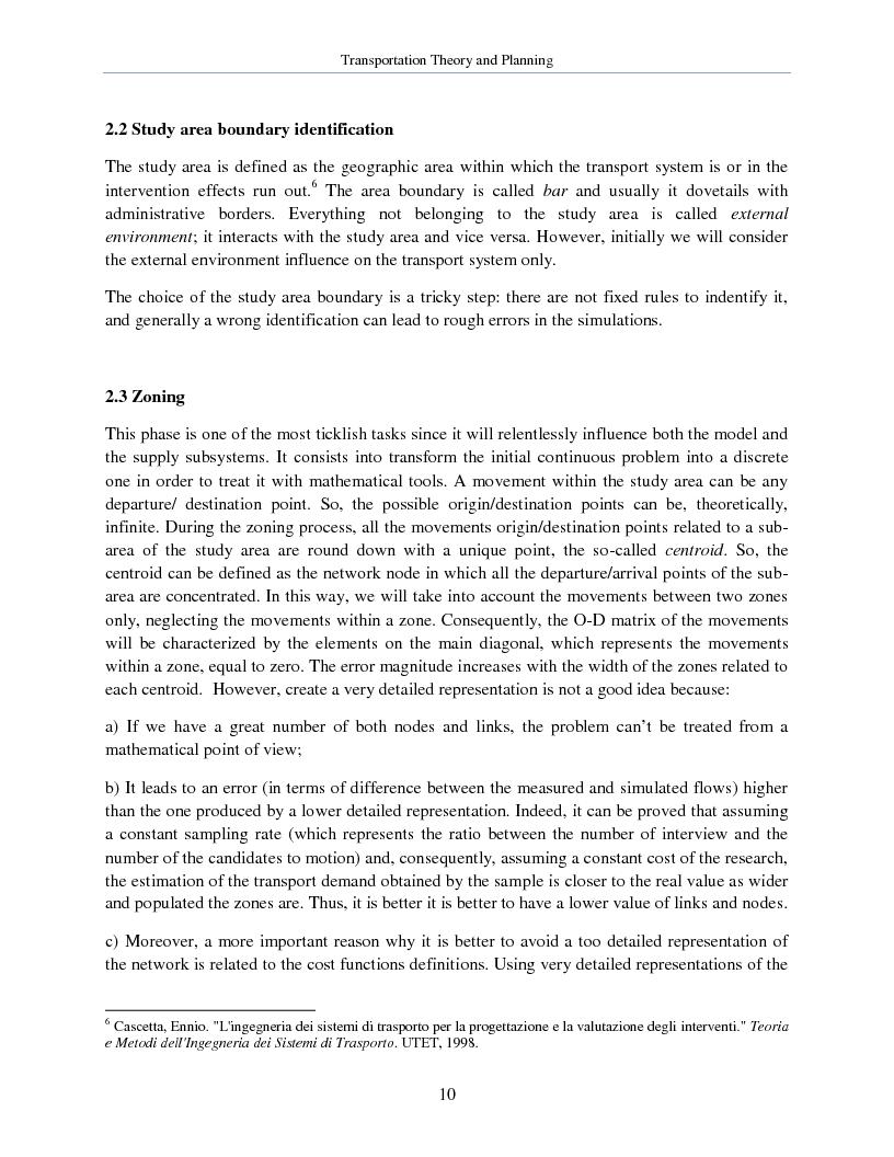 Anteprima della tesi: Transportation Theory and Planning, Pagina 11