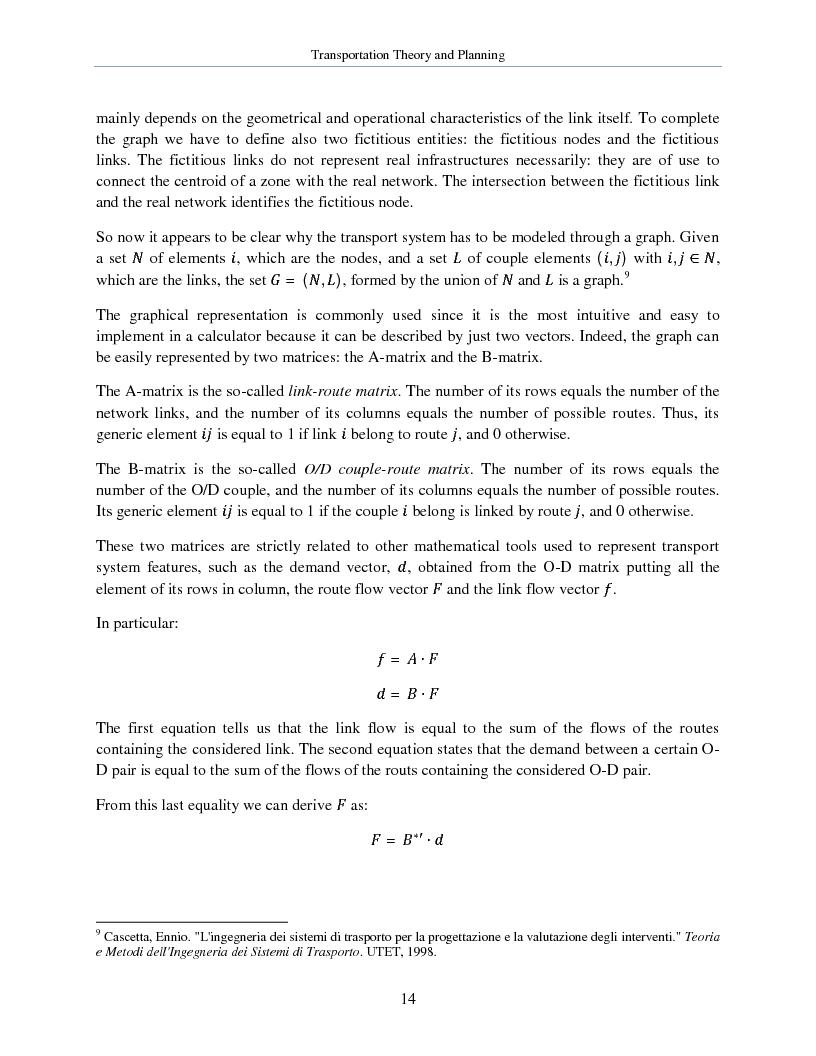 Anteprima della tesi: Transportation Theory and Planning, Pagina 15